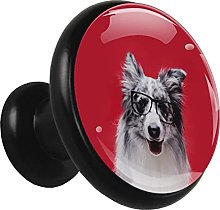 Glass Cabinet Knobs Cute Dog with 3D Visual