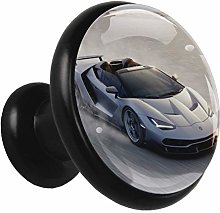 Glass Cabinet Knobs Desert Racing with 3D Visual