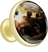 Glass Cabinet Knobs Dinosaur with 3D Visual
