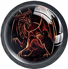 Glass Cabinet Knobs Dragon with 3D Visual Effects