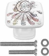 Glass Cabinet Knobs Dreamcatcher with 3D Visual