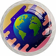 Glass Cabinet Knobs Earth with 3D Visual Effects