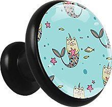 Glass Cabinet Knobs Fish Unicorn Cat with 3D