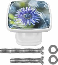 Glass Cabinet Knobs Flower with 3D Visual Effects