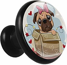 Glass Cabinet Knobs Gift Dog with 3D Visual