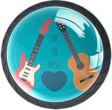 Glass Cabinet Knobs Guitar with 3D Visual Effects