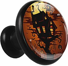 Glass Cabinet Knobs Halloween Castle with 3D