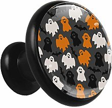 Glass Cabinet Knobs Halloween Ghost with 3D Visual