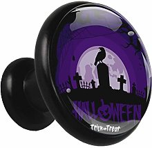 Glass Cabinet Knobs Halloween Night with 3D Visual
