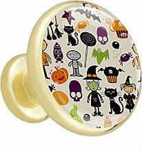Glass Cabinet Knobs Halloween with 3D Visual