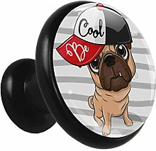 Glass Cabinet Knobs Hip hop Dog with 3D Visual