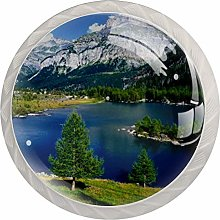 Glass Cabinet Knobs Lake with 3D Visual Effects