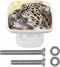 Glass Cabinet Knobs Leopard with 3D Visual Effects