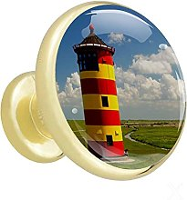 Glass Cabinet Knobs Lighthouse with 3D Visual