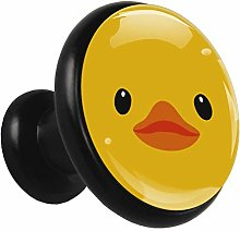 Glass Cabinet Knobs Little Yellow Duck with 3D