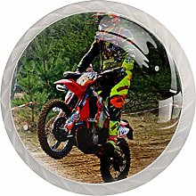 Glass Cabinet Knobs Motocross with 3D Visual