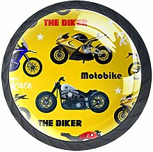 Glass Cabinet Knobs Motorcycle Cool with 3D Visual