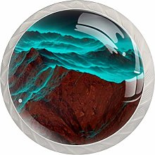 Glass Cabinet Knobs Mountain with 3D Visual