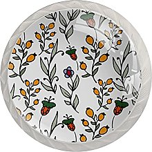 Glass Cabinet Knobs Mushroom Drawer Knob White