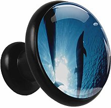 Glass Cabinet Knobs Ocean Whale with 3D Visual