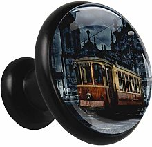 Glass Cabinet Knobs Old car with 3D Visual Effects