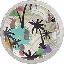 Glass Cabinet Knobs Palmetto with 3D Visual