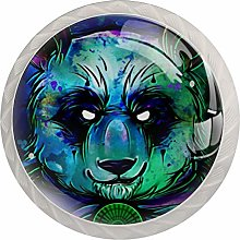 Glass Cabinet Knobs Panda Hero with 3D Visual