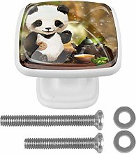Glass Cabinet Knobs Panda with 3D Visual Effects