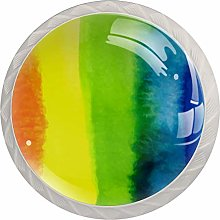 Glass Cabinet Knobs Rainbow with 3D Visual Effects