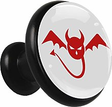 Glass Cabinet Knobs Red bat with 3D Visual Effects