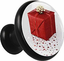 Glass Cabinet Knobs Red Gift Box with 3D Visual