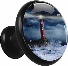 Glass Cabinet Knobs Sea Lighthouse with 3D Visual