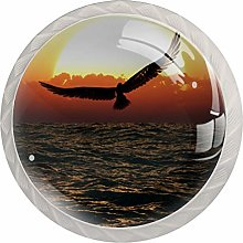 Glass Cabinet Knobs Seagull with 3D Visual Effects