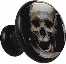 Glass Cabinet Knobs Skull with 3D Visual Effects