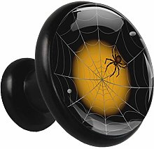 Glass Cabinet Knobs Spider Web with 3D Visual