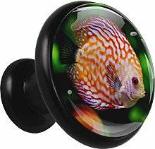 Glass Cabinet Knobs Striped Fish with 3D Visual