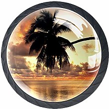 Glass Cabinet Knobs Sunrise with 3D Visual Effects