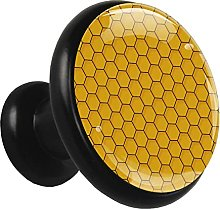 Glass Cabinet Knobs Yellow Polygon Geometric with