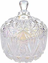 Glass Candy Jar with Lid, Decorative Candy Cookie