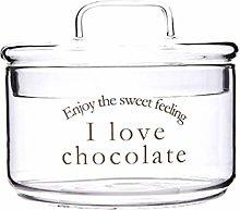 Glass Candy Jar with Lid, Elegant Sugar Bowl