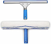 Glass cleaning kit, squeegee rubber +microfibre