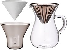 Glass Coffee Carafe 1.1L with Filter Holder and 20