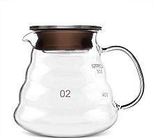 Glass Coffee Pot, 500ml Thickened Glass Heat