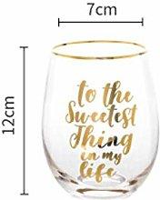 Glass Crystal Glasses Golden Edge Letter Egg Cup