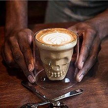 Glass Cup Skull Espresso Coffee Cup Double Wall