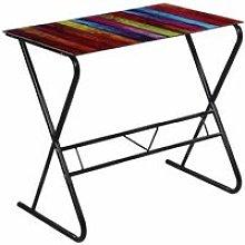 Glass Desk with Rainbow Pattern QAH09177
