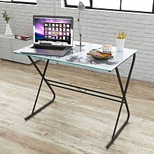 Glass Desk with World Map Pattern VD09176