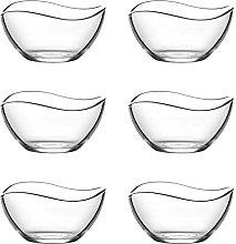 Glass Dessert Bowl Set. Ice Cream Sundae Fruit