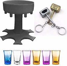 Glass Dispenser and Holder, Grey Drinks Dispenser