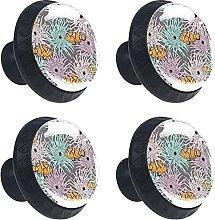 Glass Drawer Knobs - 4 Pcs 35MM Anemone Fish